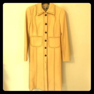 Vintage Carolina Herrera Full Length Yellow Jacket